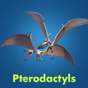 Pterodactyls - which were the villain characters in The Good Dinosaur
